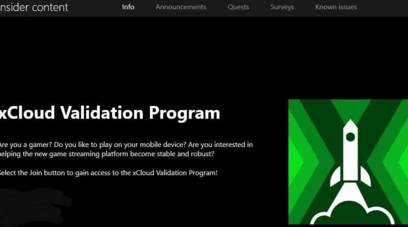 xCloud Validation Program