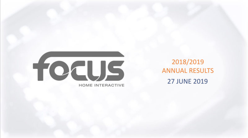 Focus Home Interactive - Annual Results 1819