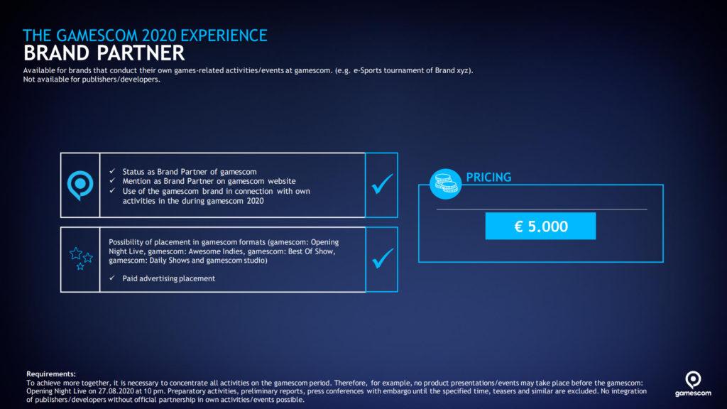 gamescom 2020 - brand partner