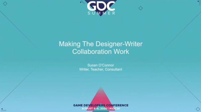 gdc 2020 - making collaboration designer author