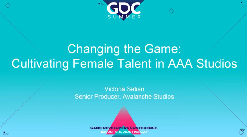 gdc 2020 - cultivating female talent