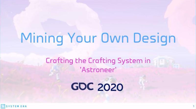 gdc 2020 - mining you own design